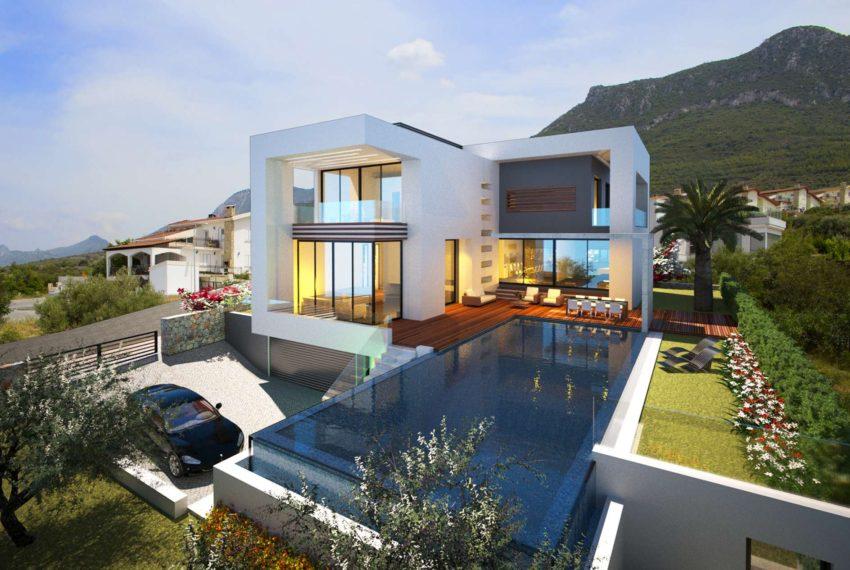 Вилла с 5-ю просторными спальнями на Северном Кипре.