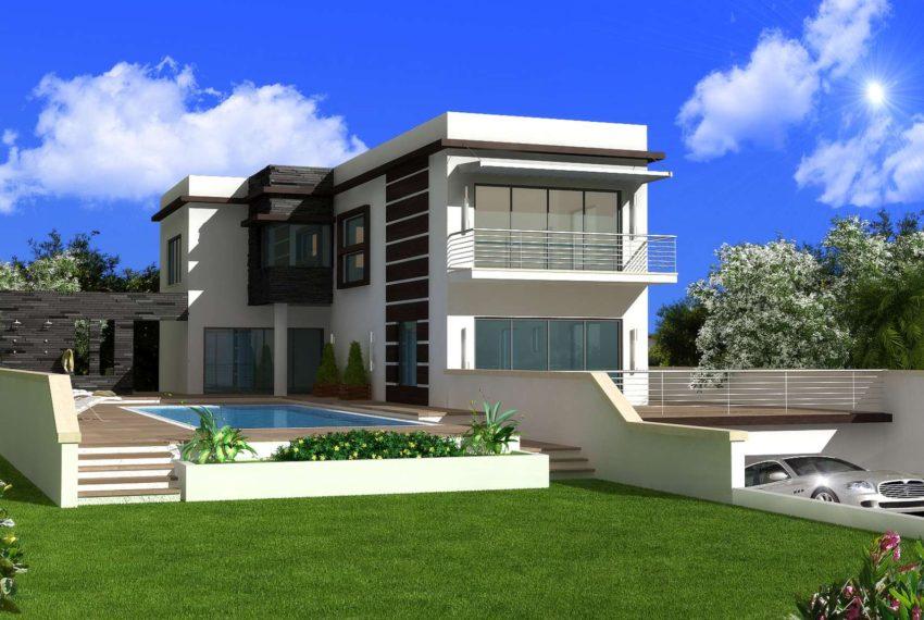 Вилла с 4 спальнями в Зейтинлике на Северном Кипре.