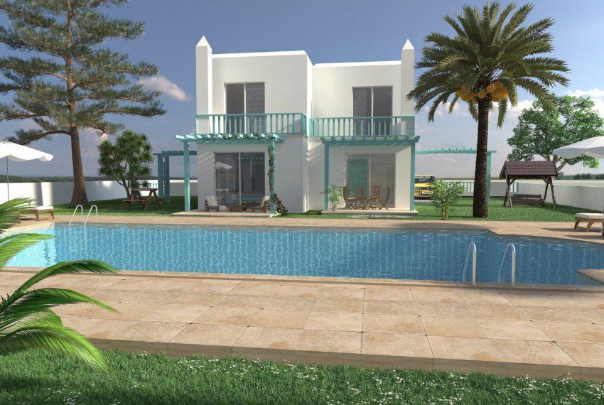 8 вилл с видом на общий бассейн на Северном Кипре