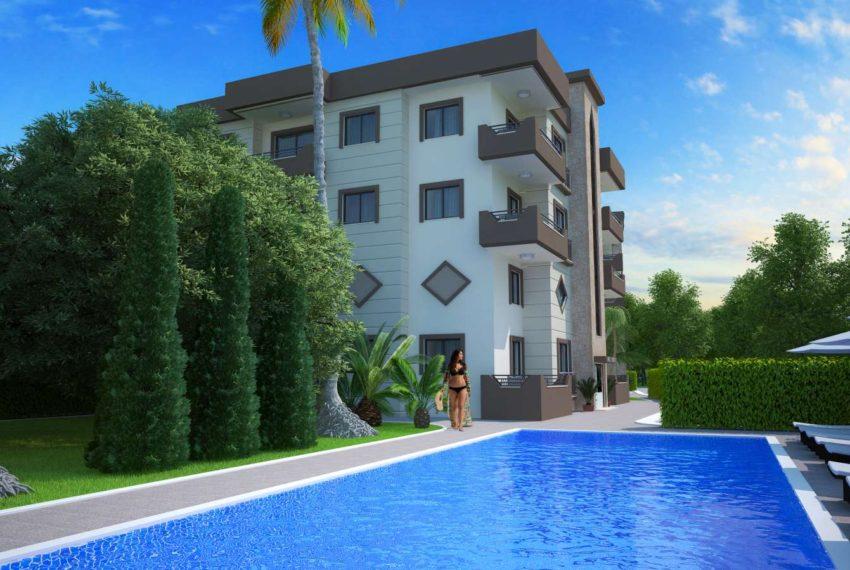 Жилой комплекс апартаментов с одной спальней на Северном Кипре.