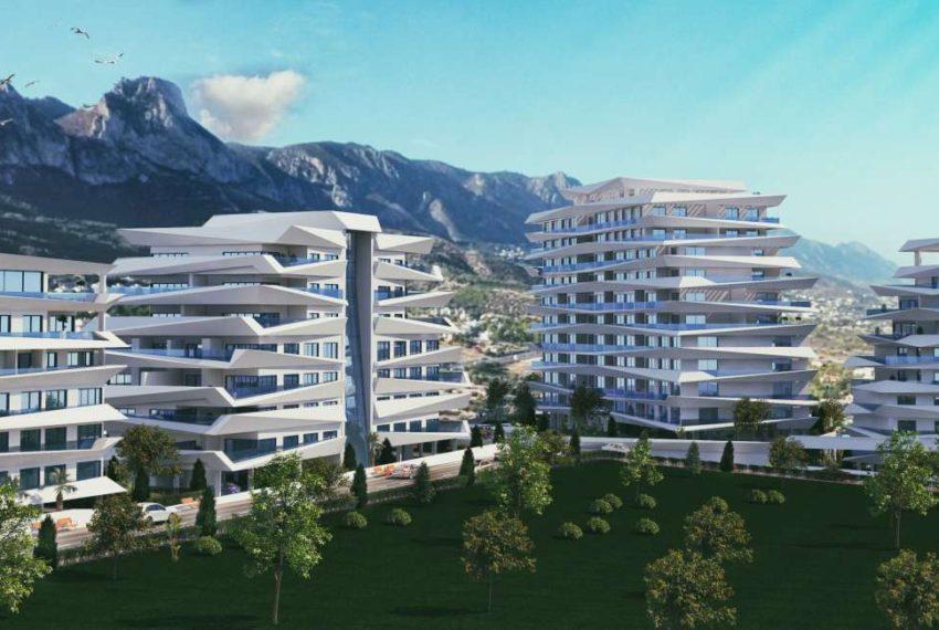 Уникальный и новый проект в центре Кирении на Северном Кипре.