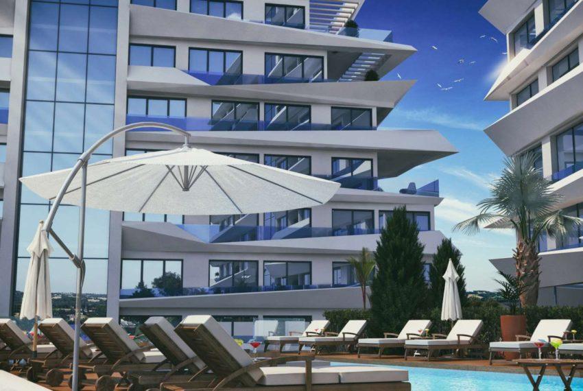 Квартира с видом на горы и море в Кирении